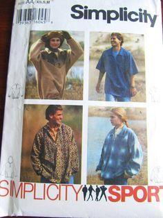 JACKET HOODiE TOP Pattern Simplicity 9226 for Men, Women and Teens FF Uncut Unused
