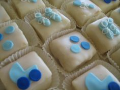 It's a Boy!! Petit Fours for a baby shower.