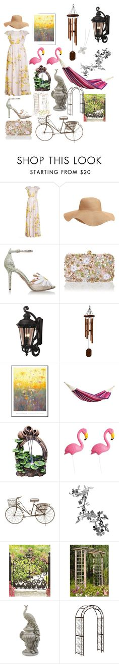 """Secret Garden"" by ascfashionphotography ❤ liked on Polyvore featuring interior, interiors, interior design, home, home decor, interior decorating, Giambattista Valli, Old Navy, Charlotte Olympia and Accessorize"