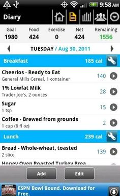 FREE Calorie Counter and Diet Tracker App! {iPhone or Android}
