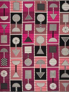 Dutch wax block print fabric via Vlisco