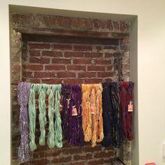 Handspun yarns in new display at ETUI fiber arts, ny