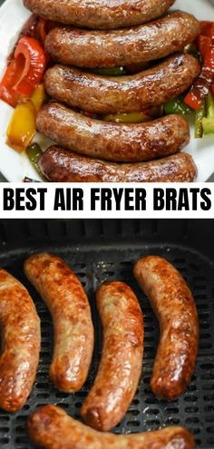 Easy brats in air fryer! This recipe uses Johnsonville brats. Learn how to make delicious air fryer brats! Easy brats in air fryer! This recipe uses Johnsonville brats. Learn how to make delicious air fryer brats! Air Fryer Recipes Low Carb, Air Fryer Dinner Recipes, Low Carb Dinner Recipes, Lunch Recipes, Keto Dinner, Keto Recipes, Dessert Recipes, Health Recipes, Breakfast Recipes