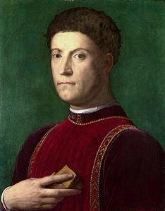 Piero il Gottoso, son of Cosimo il Vecchio de' Medici. Ritratto di Agnolo Bronzino