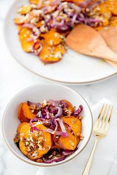 Roasted Sweet Potato & Red Onion Salad