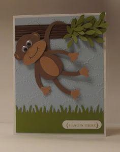 Ночи, открытка с обезьяной самодельная