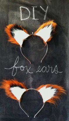 DIY No-Sew Fox Ears -Halloween Costume, Animal Costume, Fantastic Mr. Fox Costume   best stuff