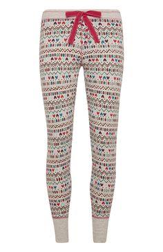 Pyjamalegging met uil Twit Twoo