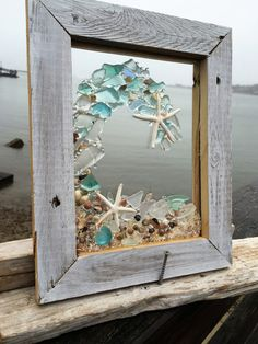 beach glass wave in pale blue by beachcreation on Etsy