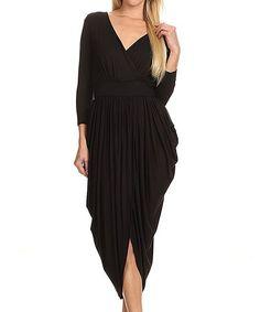 Black Surplice Dress