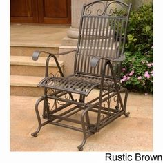 Delicieux International Caravan Mandalay Iron Glider Chair, Beige, Patio Furniture