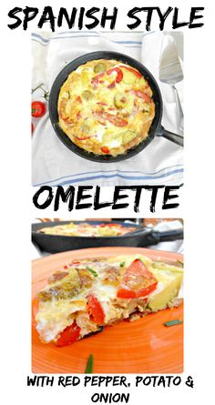 A perfect lunch or lighter meal, omelette takes just minutes to knock up. This one, inspired by the Spanish tortilla, is made with potatoes, onions and red peppers. Try it with a crisp salad and juicy tomatoes!