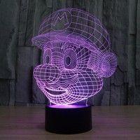 Wish | Innovative Design 3D Bulbing Super Mario Figure USB Mood LED Table Desk Lamp Night Light