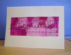 Congratulations Card Hand Stitched Card. by KezylouToo on Etsy