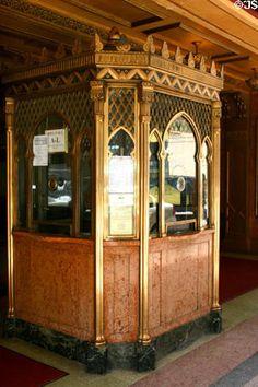 Art Deco ticket booth, Fox Theatre, Atlanta, Georgia (photo by Jim Steinhart)