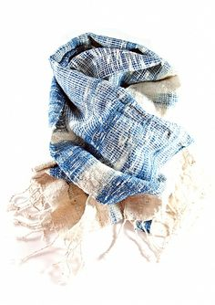 Water flow ikat scarf, handwoven from 100% organic cotton – Ikat and Me owner Anna Riensuwarn is based in Seattle and works with highly-specialized female artisans in her native Thailand