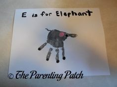 E Is for Elephant Handprint Craft   Parenting Patch