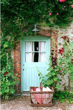beautiful aqua colored door