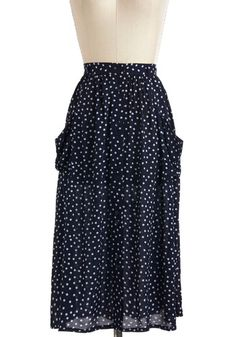 Feb 16th..Just Dandy Skirt in Navy Dots, #ModCloth...$40..****4Star Rating...S, M, L