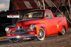While Trevor Floyd worked to finance the build, his custom 1954 Holden FJ ute was being pieced together on the other side of the country Australian Muscle Cars, Aussie Muscle Cars, Custom Trucks, Custom Cars, Car Crash, Drag Cars, Car Engine, Police Cars, Old Trucks