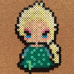 Queen Elsa - Frozen Fever perler beads by tsubasa.yamashita