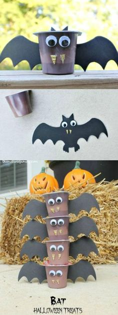 These Bat Halloween Treats are the perfect treat idea for children with allergies or not. Super cute and so easy to make! : These Bat Halloween Treats are the perfect treat idea for children with allergies or not. Super cute and so easy to make! Dulceros Halloween, Halloween Treats For Kids, Halloween Goodies, Holidays Halloween, Halloween With Toddlers, Halloween Makeup, Kindergarten Halloween Party, Childrens Halloween Party, Halloween Crafts For Kids To Make
