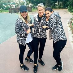 What to do when we all turn up for a location shoot in the same jacket ... Just run with it! Lx #dreamteam #lornajane #activeliving #movenourishbelieve