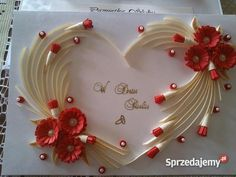 Quilling for Kids Quilling Images, Paper Quilling Cards, Paper Quilling Patterns, Origami And Quilling, Quilling Work, Quilling Flowers, Pinterest Diy Crafts, Homemade Wedding Gifts, Quilled Creations
