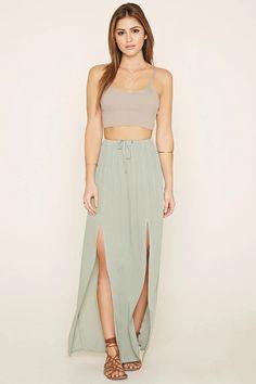 Crinkled Maxi Skirt #f21xmusic
