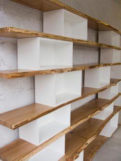 Western Kitchen Decor, Home Library Design, Shop Interior Design, Bookshelf Design, Diy Furniture Plans, Cinder Block Furniture, House Rooms, Home Organization, Shelving