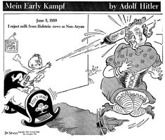 Dr Seuss World War II Political Cartoon