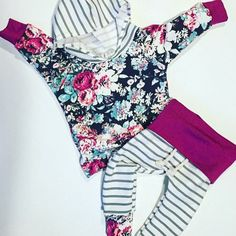 Baby girl outfit : floral baby outfit : newborn outfit : cute baby clothes