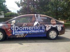 Ottawa Car Wrap - Domenics Music Honda Civic