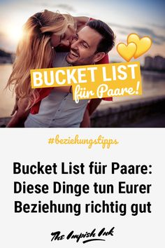 Bucket List for Couples: These things are really good for your relationship - Refresh relationship? With this bucket list for couples you conjure up more romance in your relationship! Our list tells you! tips - Relationship Bucket List, Relationship Challenge, Relationship Memes, Relationship Problems, Relationships Love, Couple Goals, Flirting, About Me Blog, Dating