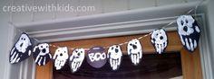Boo Banner - Handprints Halloween Craft