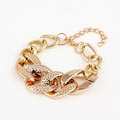 Fashion Gold Or Silver Acrylic Chain Bracelets