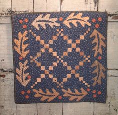 love the oak leaves - Pattern By Cheri Payne