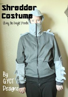 Check out how to use the knight hoodie to make your own Shredder costume to complement those Teenage Mutant Ninja Turtles costumes. Family Costumes, Diy Costumes, Halloween Costumes, Costume Ideas, Shredder Costume, Diy Crafts For Kids Easy, Kids Diy, Kids Crafts, Halloween Sewing