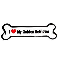 I Love My Golden Retriever Bone Magnet #goldenretriever