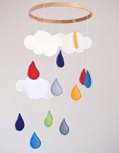 DIY Anleitung: Wolkenmobile nähen // kids diy: how to sew a cloud mobile via DaWanda.com