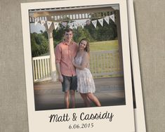 VANESSA 50 Wedding Save the Dates Photo by SAEdesignstudio on Etsy