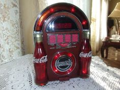 Coca Cola AM/FM Jukebox Radio and Clock #CocaCola