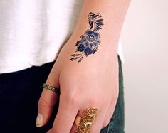 Holandesa Delft Azul temporal tatuaje / tatuaje por Tattoorary