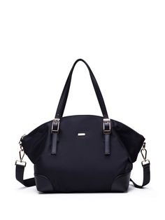 Shop Satchels - Black Nylon Zipper Satchel online. Discover unique designers fashion at StyleWe.com.
