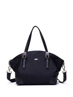 Shop Satchels - Black Nylon Zipper Satchel online. Discover unique designers fashion at StyleWe.com.