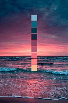 Beautiful colour palette Colour Pallete, Ocean Color Palette, Palette Wall, Green Color Schemes, Color Combinations, Color Palettes, Dorm Color Schemes, Palette Pastel, Colour Board