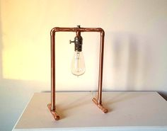 Simple Copper Pipe Lamp by iheartSteampunk on Etsy