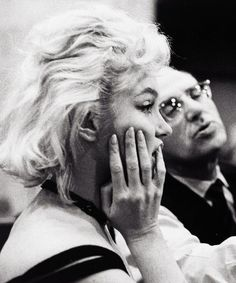 Marilyn Monroe and George Cukor photographed by Bruce Davidson 1960