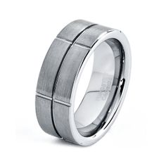 Mens Tungsten Carbide Wedding Band Ring 8mm Brushed by GiftFlavors, $43.77