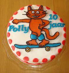 Polly, gek op skaten en poezen